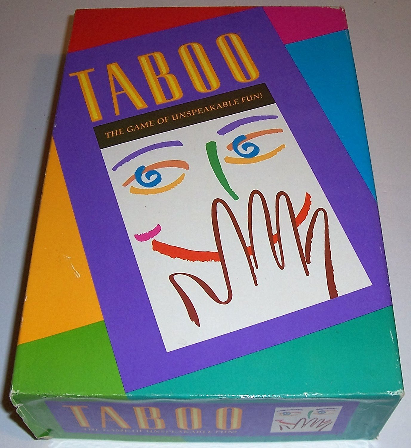 Taboo the Game of Unspeakable Fun (1989 Edition), 4-10 Players By Milton Bradley by