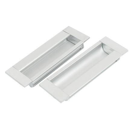 2pcs Aluminium Alloy Rectangle Drawer Door Flush Recessed Pull Handle 110mmx40mm - image 1 of 1
