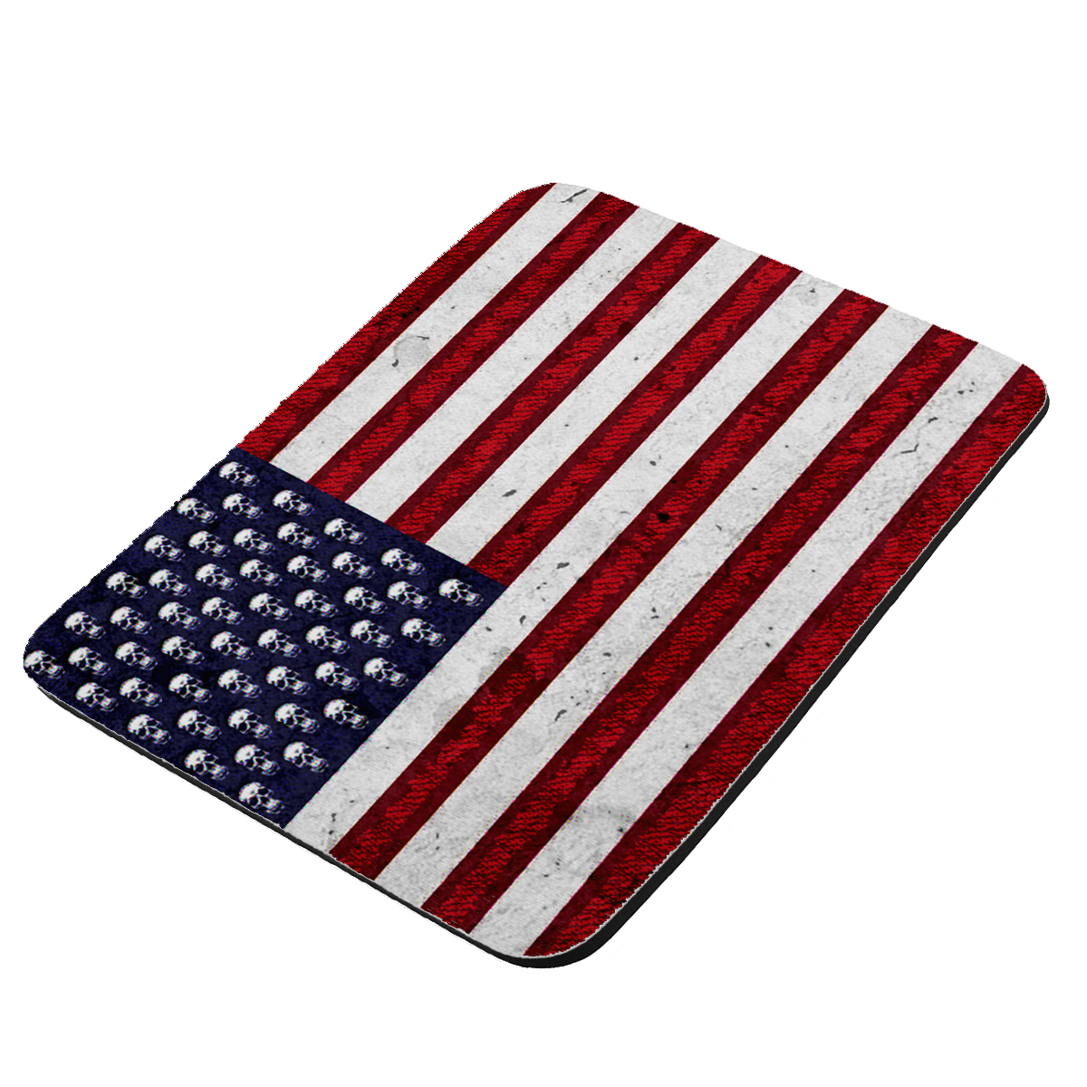 American Flag Pop Art Skulls - KuzmarK Mousepad / Hot Pad / Trivet