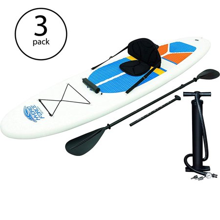 Hydro-Force White Cap Inflatable SUP Stand Up Paddle Board (3 Pack) (Best Way To Pack Boxes)