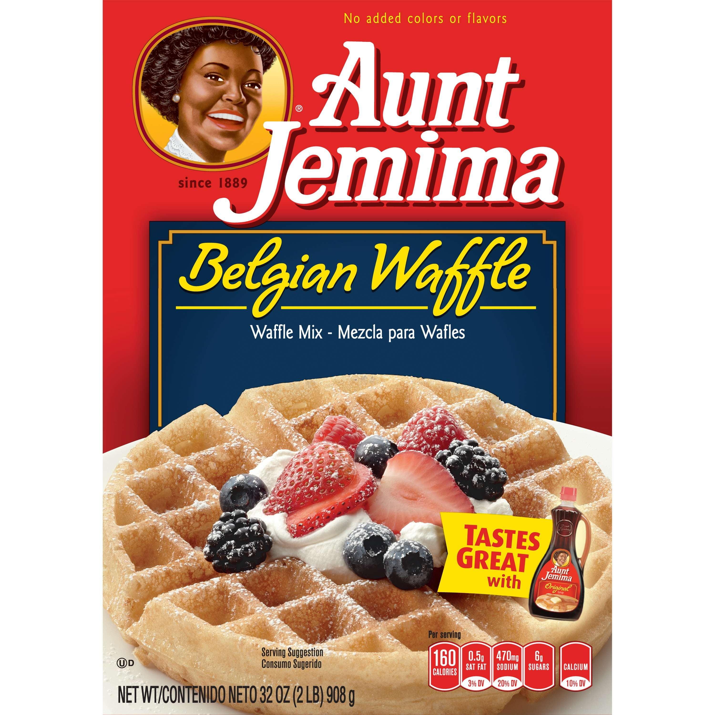 Aunt Jemima Belgian Waffle Mix, 32 oz. Box by The Quaker Oats Company
