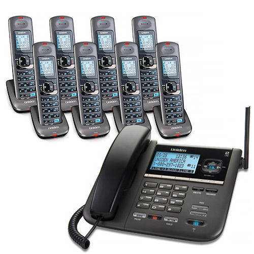 """Uniden DECT4096-8 2-Line DECT 6 Corded Cordless Phone"" by Uniden"