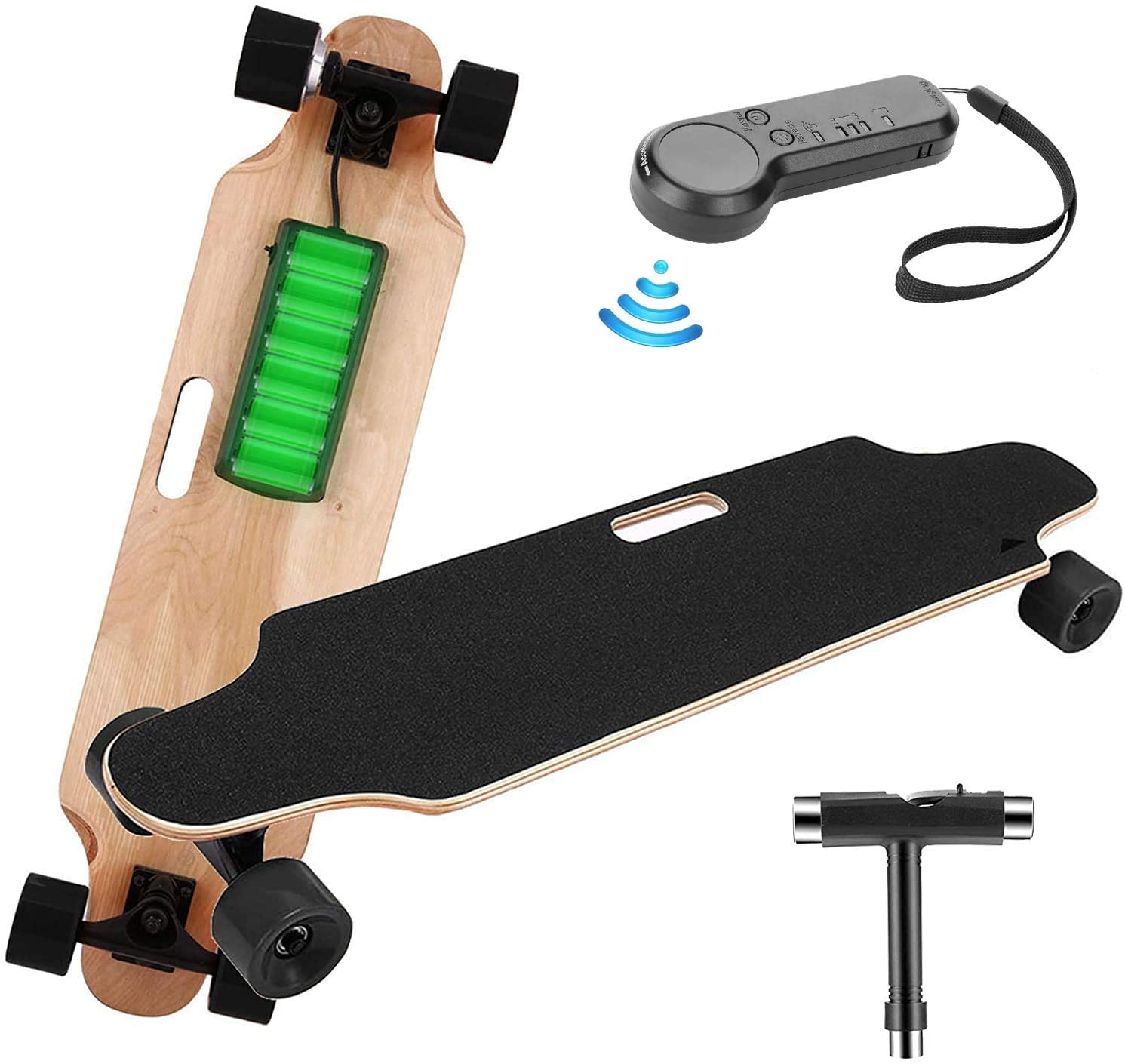 """Details about  /35/"""" Electric Skateboard Maple Deck Longboard Crusier with Remote Controller"""