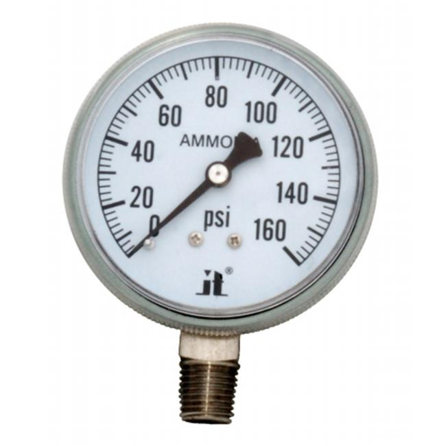 Zenport APG160-10PK Ammonia Gas Pressure Gauge 0-160 Psi, Box of 10