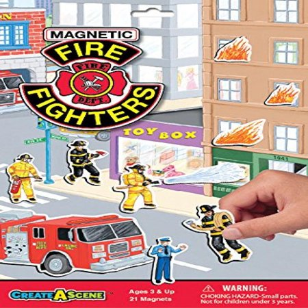 Create-A-Scene Magnetic Playset - Fire Fighters