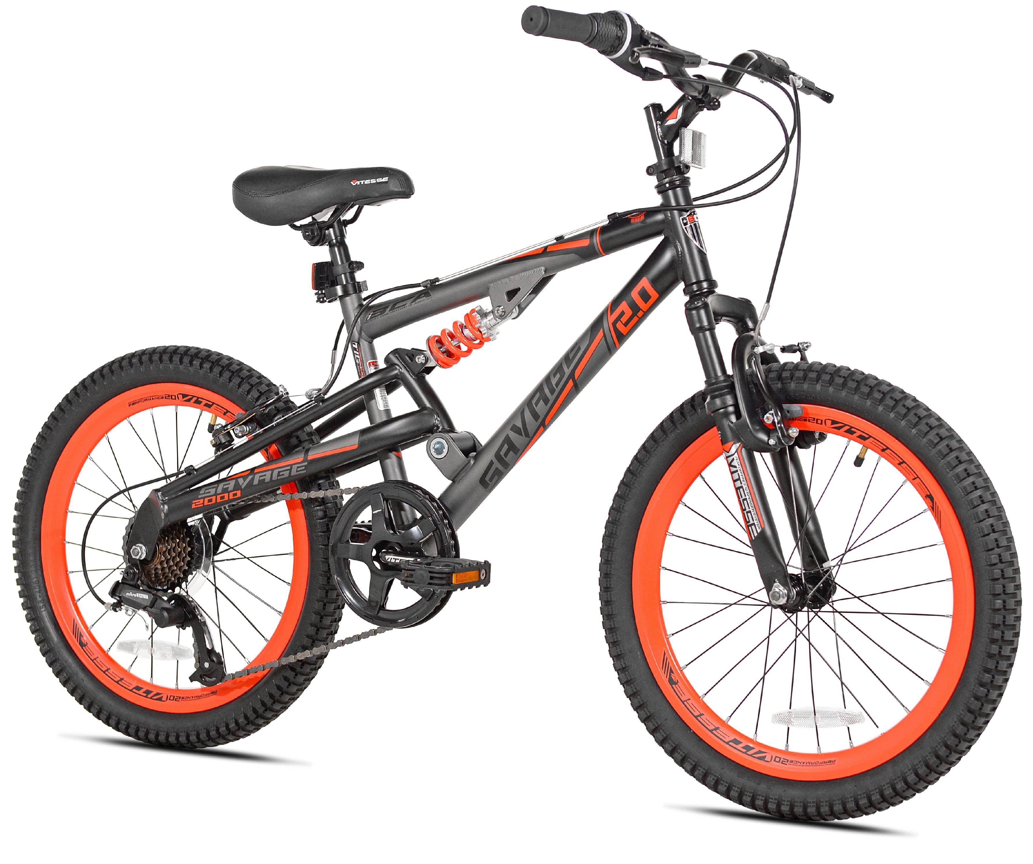 "FULL SUSPENSION Bike Bicycle FRAME for 20/"" WHEEL Size 13/""  BLACK /& ORANGE"