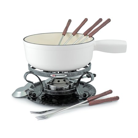 Swissmar Lugano 9pc Cheese Fondue Set - Matte White ()