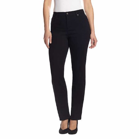 Gloria Vanderbilt Women's Amanda Slimming Stretch Denim Jeans (Black, 10 Average) ()