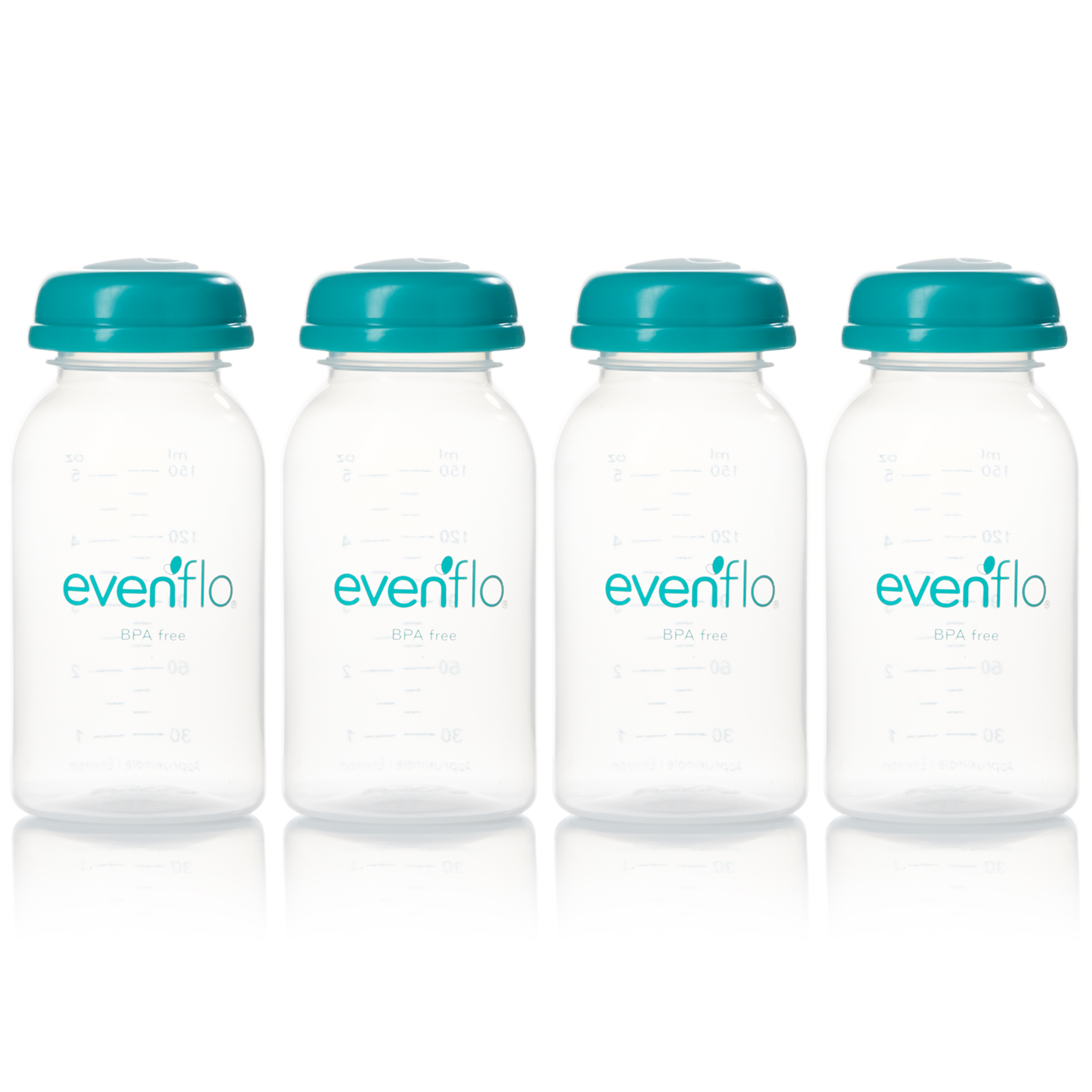 Evenflo Feeding BPA-Free Breast Milk Collection Bottles - 5oz, 4ct