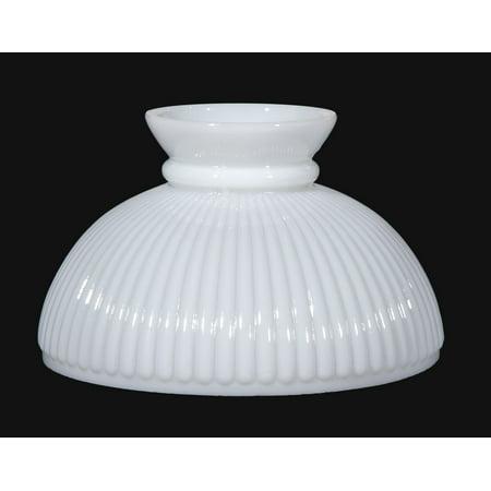 """B&P Lamp® 10"""" Shade, Stu, Opal, Rib"""