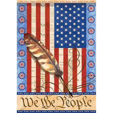 We the people 28 x 40 house flag patriotic americana - Discount tire garden of the gods ...