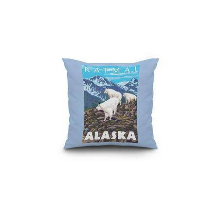 Mountain Goats Scene Katmai Alaska LP Original Poster 16x16 Spun Polye