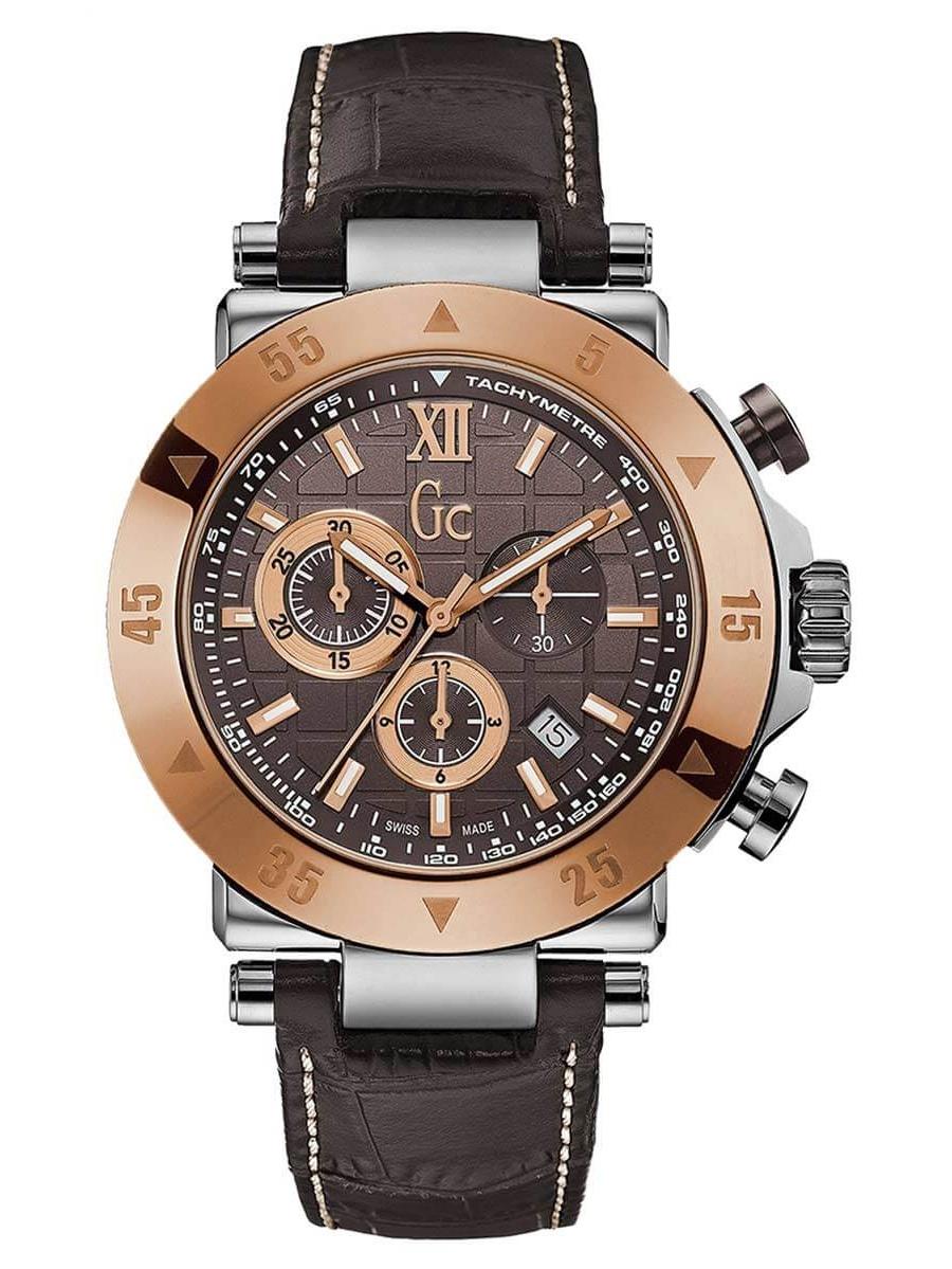 X90020G4S Men's Sport Chic GC-1 Brown Dial Chronograph Watch