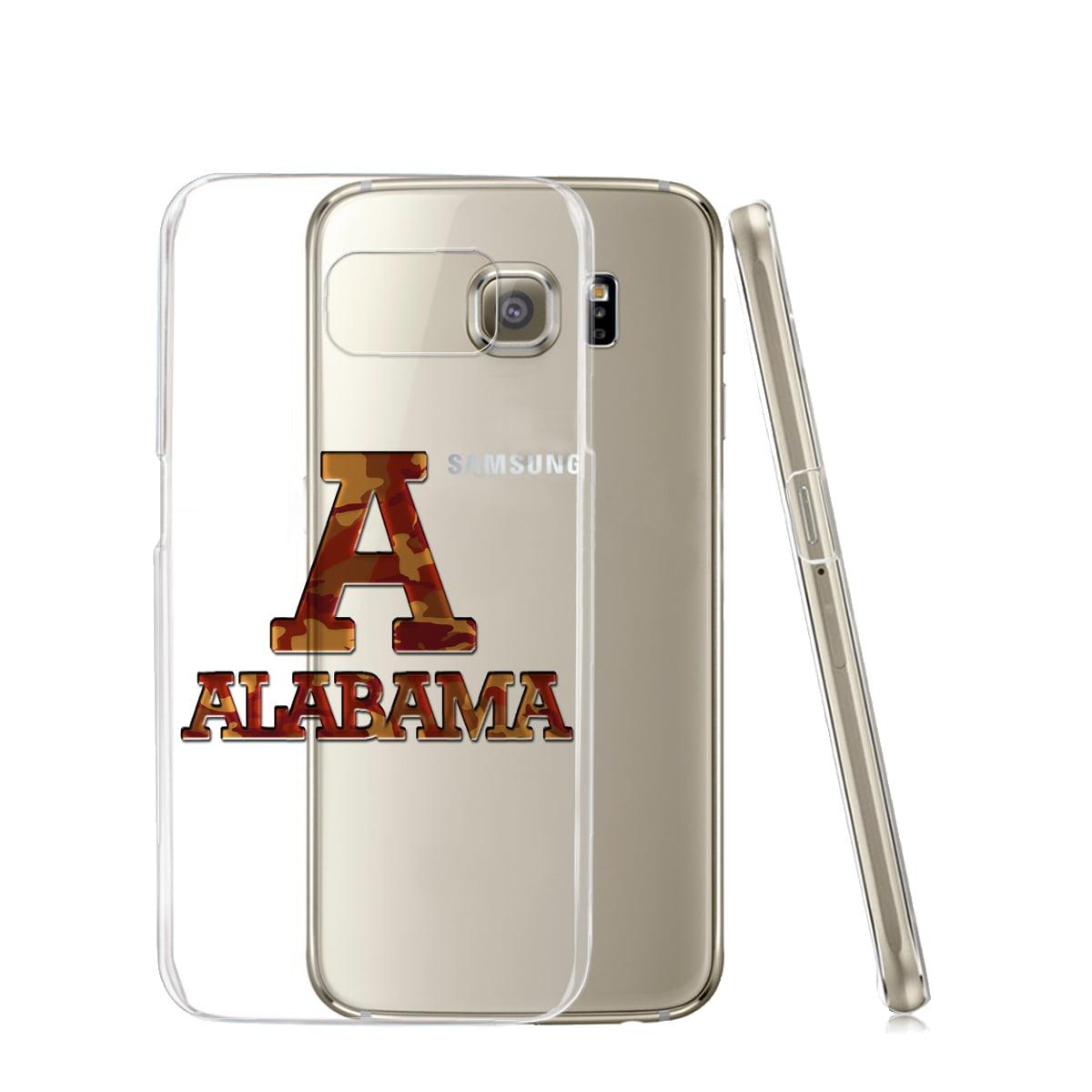 KuzmarK™ Samsung Galaxy S6 Edge Clear Cover Case - Alabama Red Camouflage
