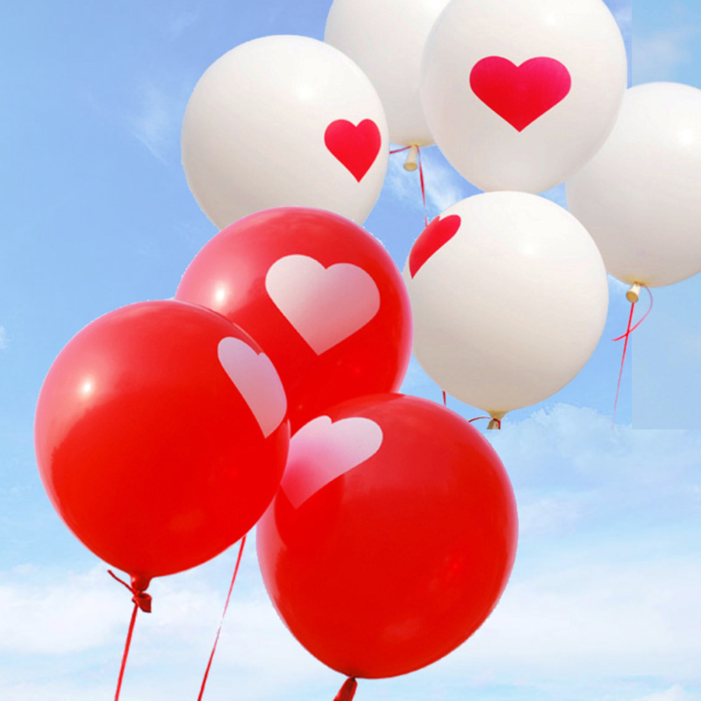 Heepo 5Pcs Romantic Heart Love Latex Balloon Wedding Birthday Decor Party Supplies
