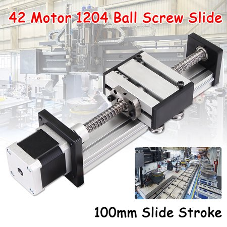 100mm Long Stage Actuator 1204 Ball Screw CNC Router Parts Linear Slide cnc machine part Rail Guide with Stepper