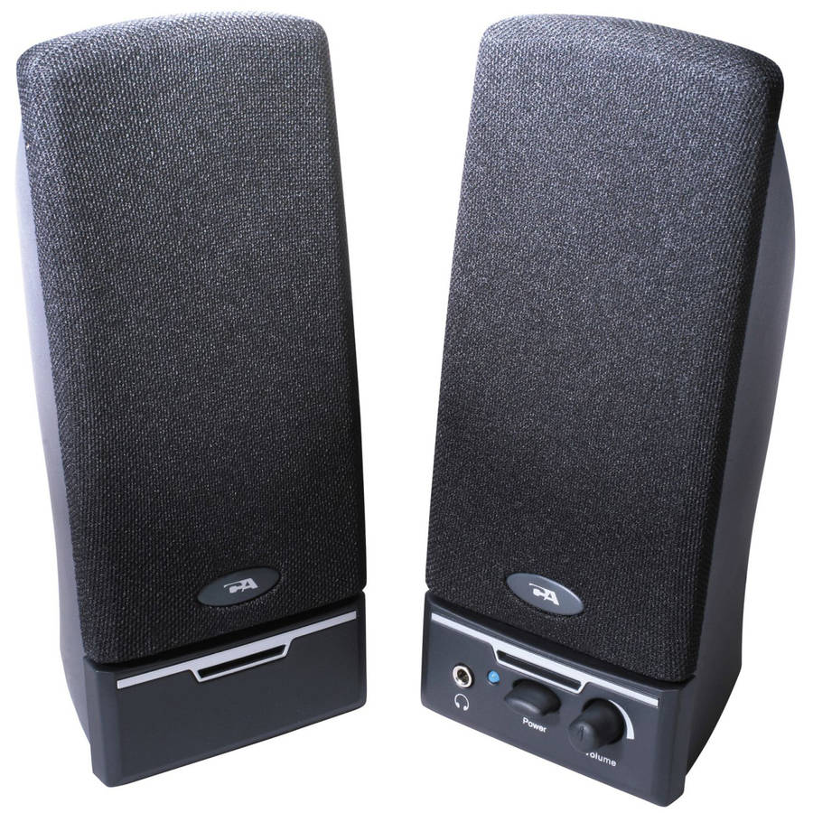 Cyber Acoustics 2.0 Black Stereo Speakers