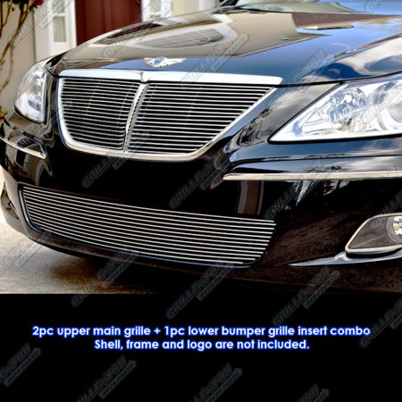 Lund Grille Insert (Compatible with 09-11 2011 Genesis Sedan Billet Grille Insert Combo Y67678A)