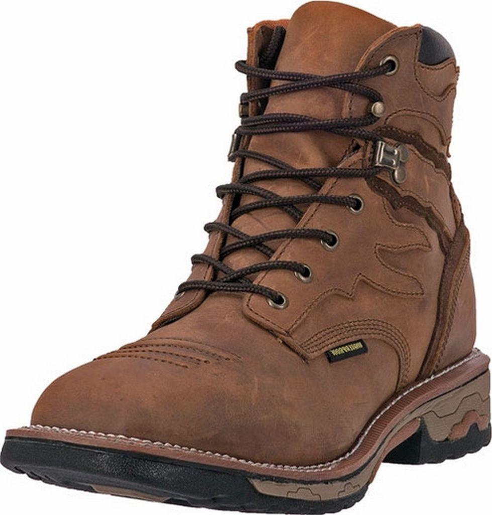 Men/'s Dan Post Flame Broad Steel Square Toe Tan Waterproof Boots DP66482