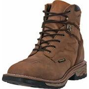 """Dan Post Work Boot Mens 6"""" Flame Lace Waterproof ST Saddle Tan DP66482"""