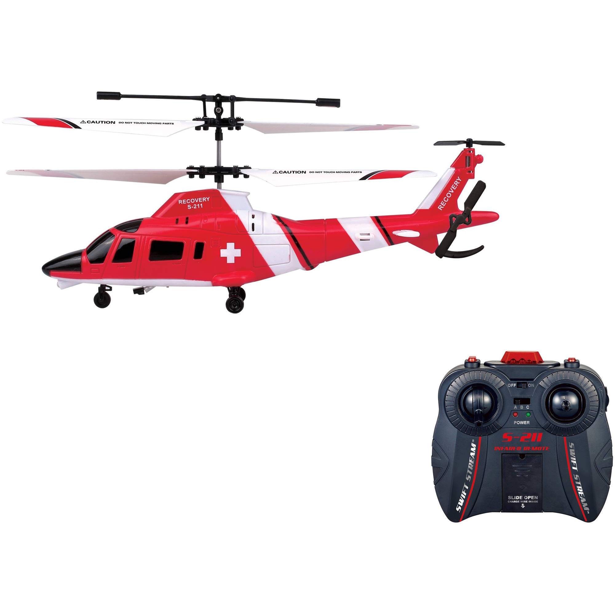 "Swift Stream S-211 Remote Control 9"" Helicopter Recovery"