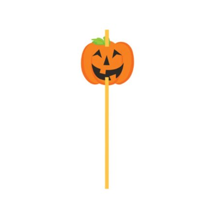 Halloween Pumpkin Straws 6 ct Party Supplies Treats (Easy Treats For Halloween Party)