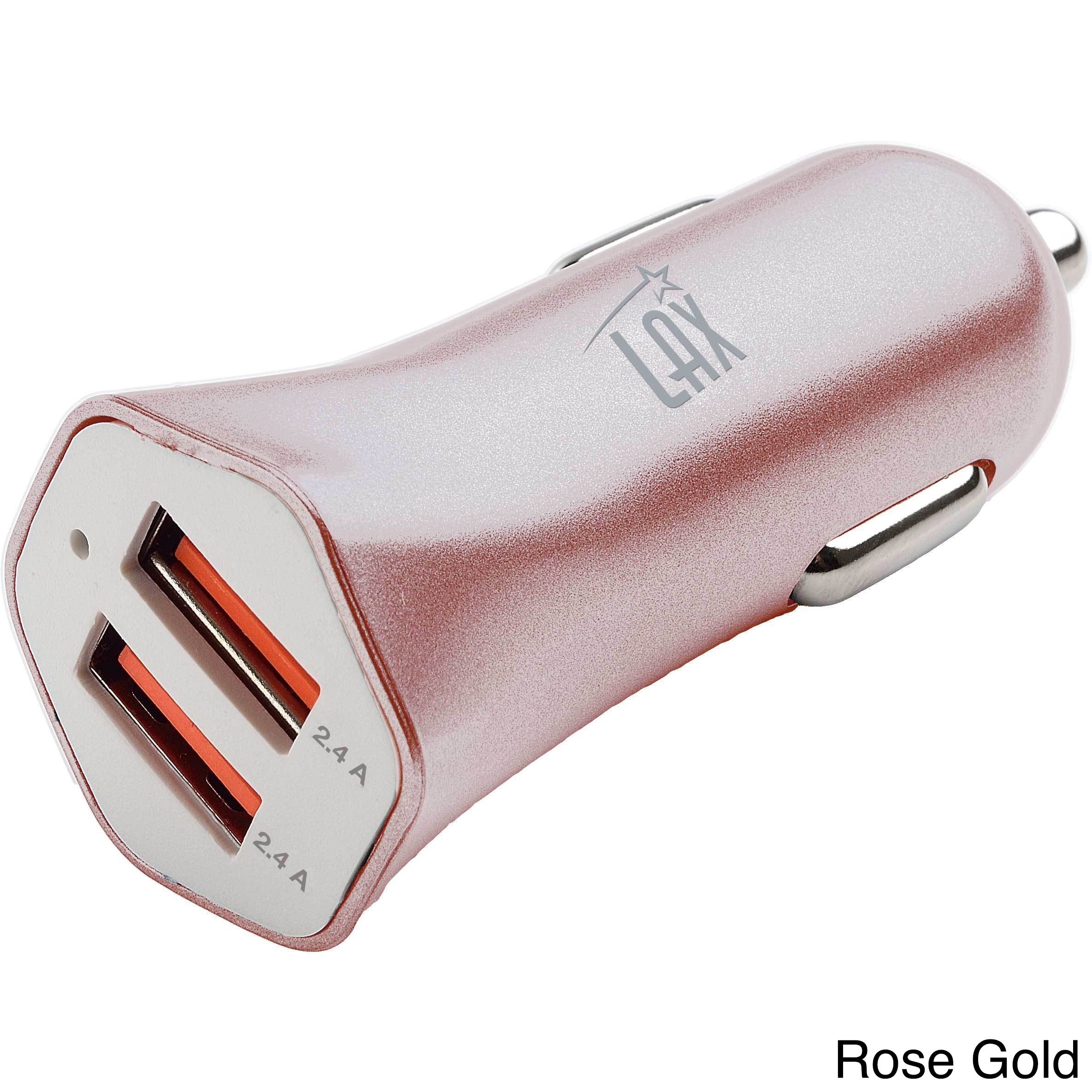 LAX Gadgets Dual USB 4.8A Fast Car Charger for iPhone 6S Plus...
