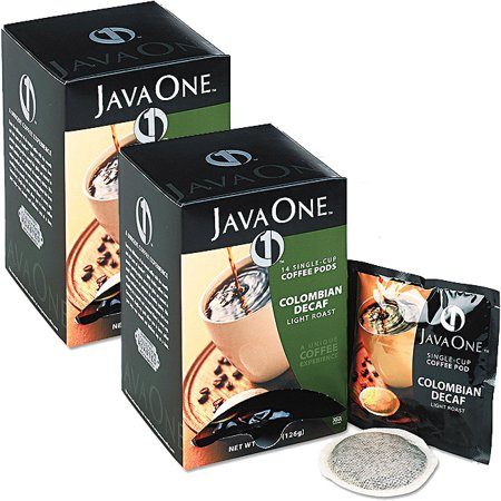 (2 Pack) Java One, Gourmet Decaffeinated 14 Single Cup Coffee Pods, 4.4 oz, 6 Ct ()