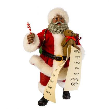 Kurt Adler 10.5-Inch Fabriché Black Santa with List and Candy Cane](Kurt Adler Halloween)