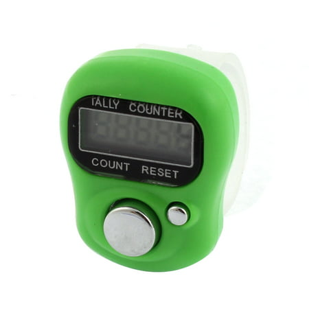 Digital Finger Ring Hand Held Tally Knitting Row Counter Green - image 3 de 3
