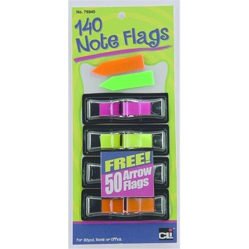 Charles Leonard 76940-ST Note Flags - Small, Assorted