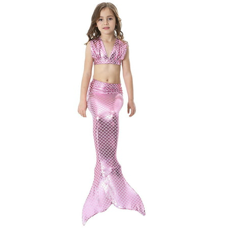 95ae70b147 Yosoo - Yosoo Girls 3pcs Swimwear Top Panties Mermaid Tail Swiming Costume  Monofin Flippers Swimsuit