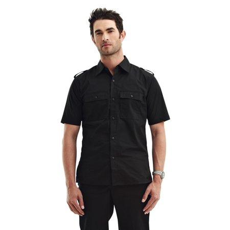 Tri-Mountain Racewear Spoiler 918 Easy Care Slim Fit Shirt, 2X-Large, Black (Easy Fit Shirt)