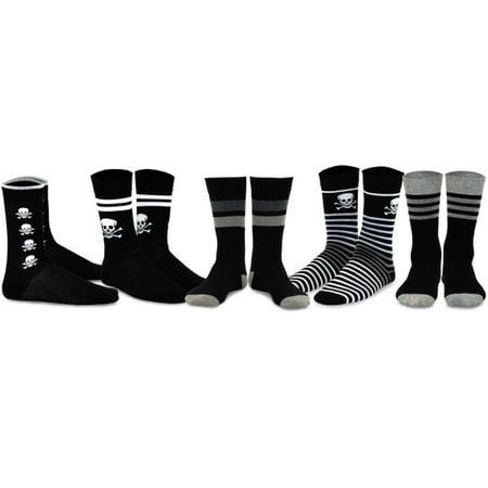 TeeHee Men's Fun and Fashion Cotton Crew Socks 5-Pack