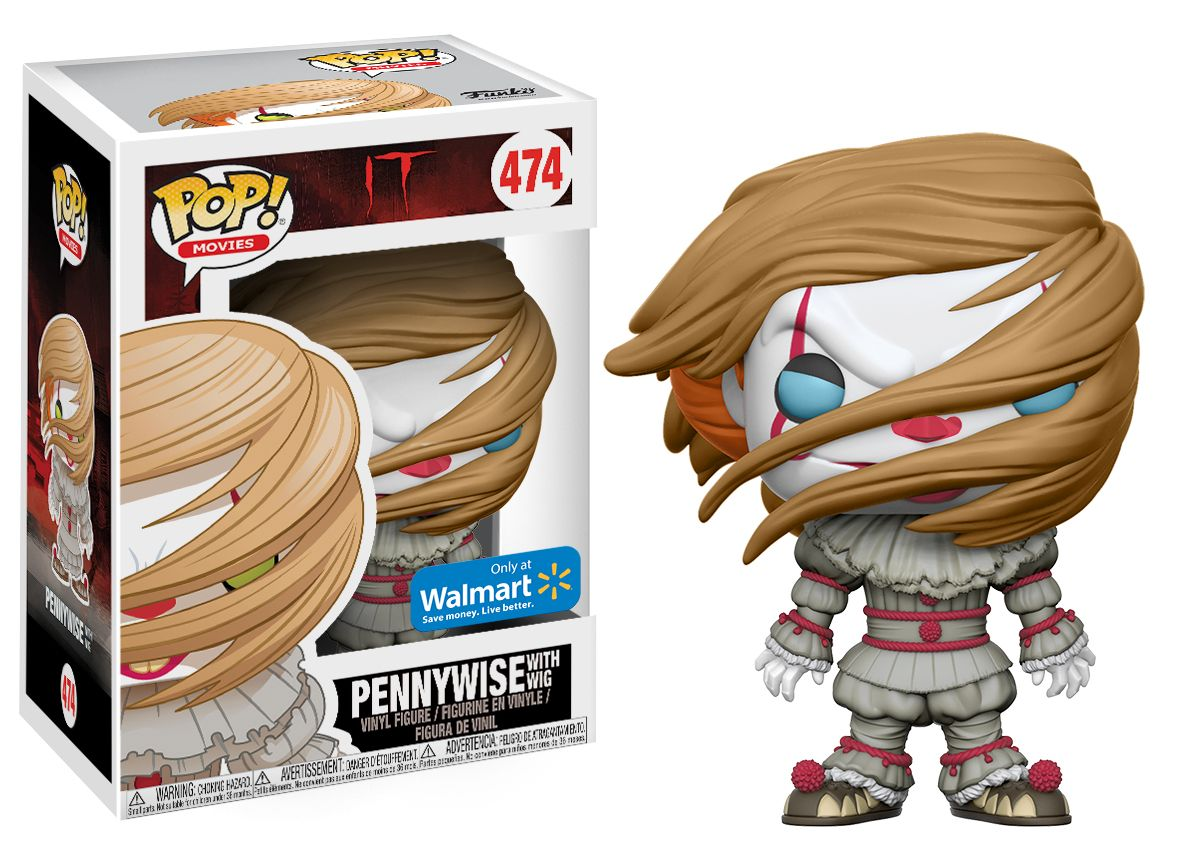 Funko POP! Movies: IT - Pennywise with Wig Walmart Exclusive