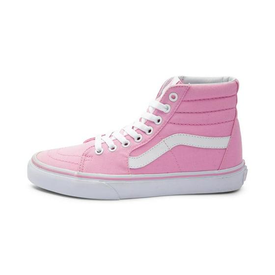 aabcae81ffc248 Vans - Vans Sk8-Hi Canvas Prism Pink   True White High-Top ...