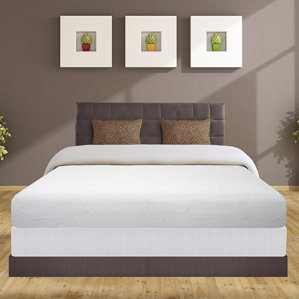 Best Price Mattress 8 Inch Air Flow Memory Foam Mattress and 7.5 Inch New Steel Box Spring Foundation Set, Multiple Sizes
