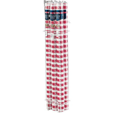 Red Gingham Banquet Table - Red And White Plastic Tablecloth