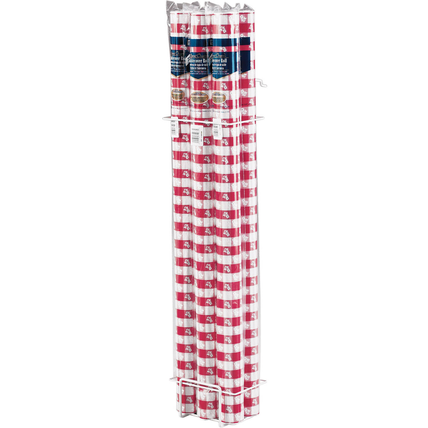 Red Gingham Banquet Table Roll