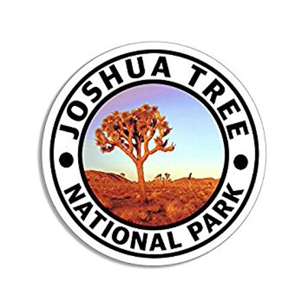 Round JOSHUA TREE National Park Sticker Decal (hike travel rv) Size: 4 x 4