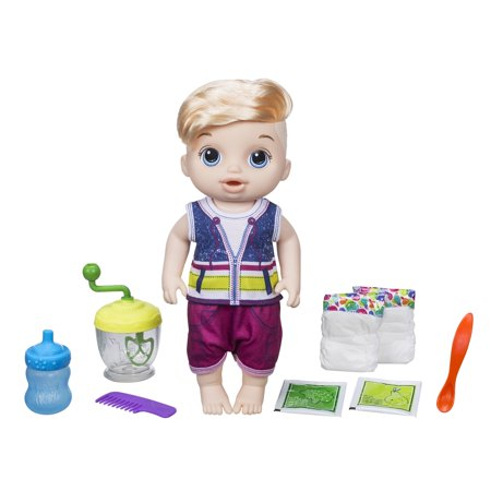 Baby Alive Sweet Spoonfuls Baby Doll Boy-Blonde Hair for $<!---->