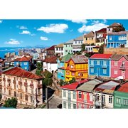 View of Colorful Buildings 1500 Piece Puzzle
