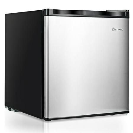 1.1 cu.ft. Compact Mini Upright Freezer Stainless Steel Single Door Home Dorm - image 10 of 10