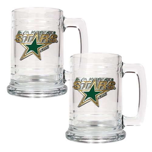 NHL - Dallas Stars 2pc. 15oz. Glass Primary Tankard Set