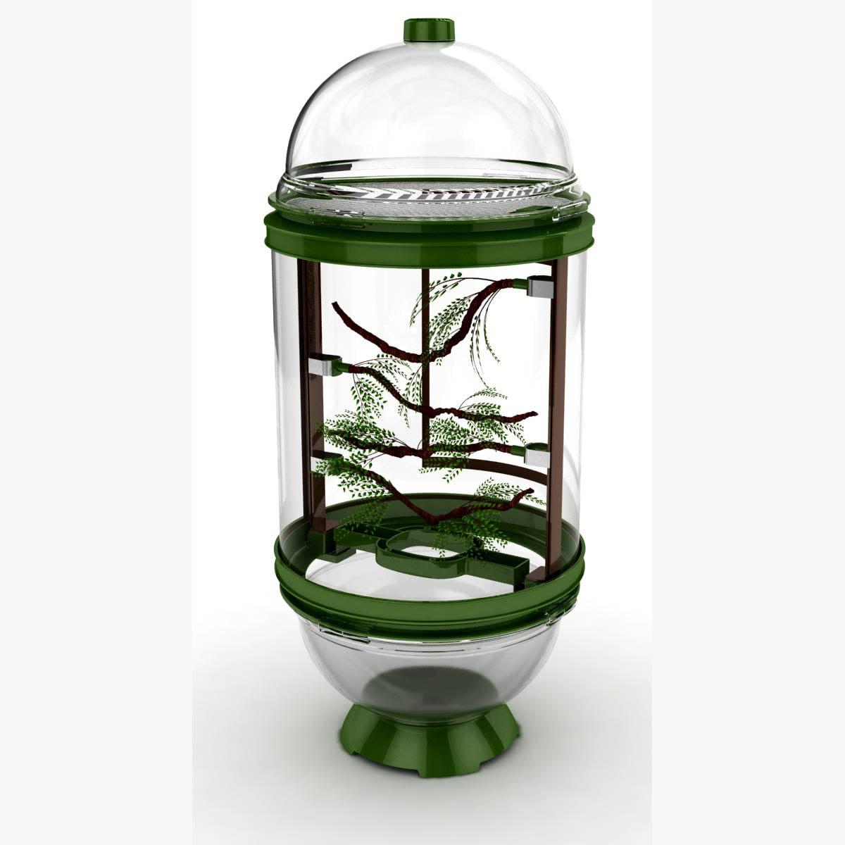 "BioBubble Chameleon Cantina Green Cage Enclosure 16"" x 16..."
