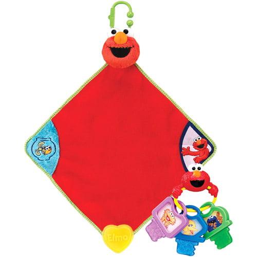 Sesame Street Clicky Keys Teether and Baby Blanket Value Bundle