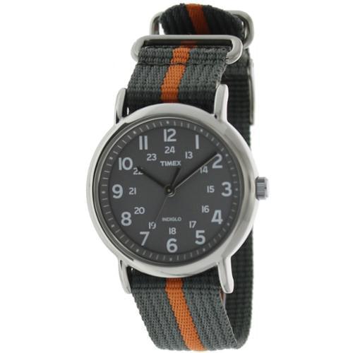 Timex Men's Weekender T2N649 Grey Nylon Analog Quartz Watch