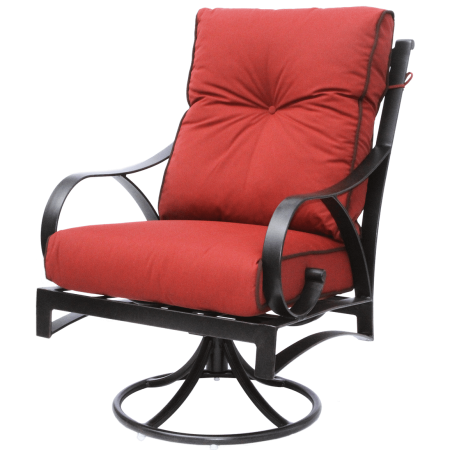 Newport Cast Aluminum Outdoor Patio Swivel Rocker Chair