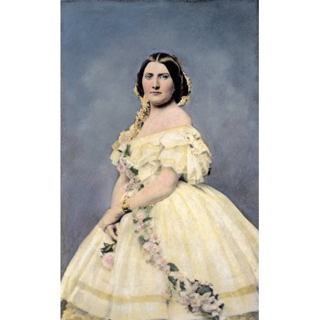 Harriet Lane Johnston N 1830 1903  Niece Of Us President James Buchanan And White House Hostess Oil Over A Photograph C1860 Rolled Canvas Art     24 X 36