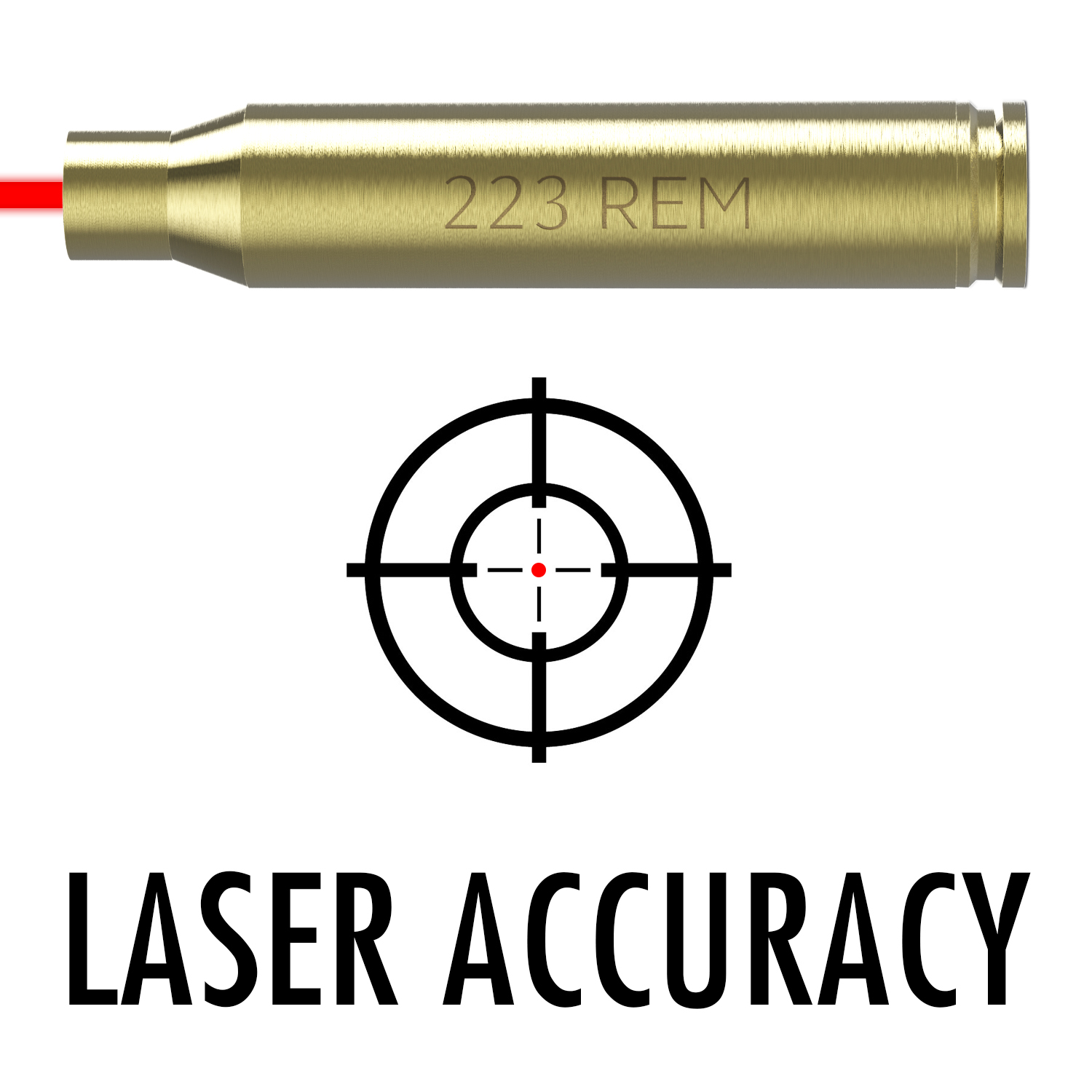 .223 / 5.56 Bore Sight In-Chamber Laser sight - Perfect to laser bore sight in your .223 or 5.56 caliber rifle.